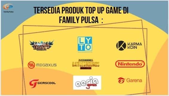 Daftar Harga Voucher Game Online Murah Family Pulsa