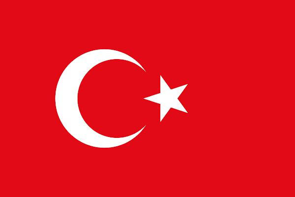 Logo Gambar Bendera Negara Turki PNG JPG ukuran 600 px