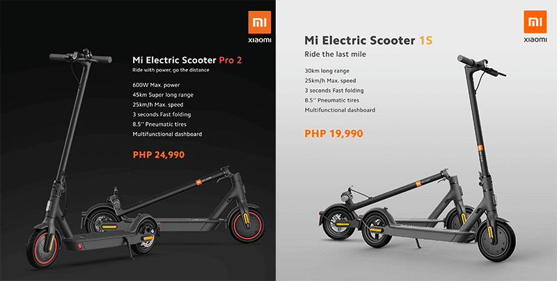 Mi Electric Scooter Pro 2 and 1S priced in PH, starts at PHP 19,990