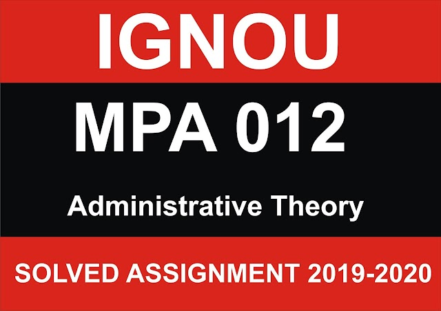 MPA 012 Solved Assignment
