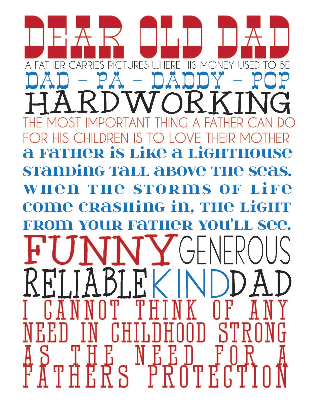 Homespun With Love Free Printable Father S Day Subway Art Revision Posted