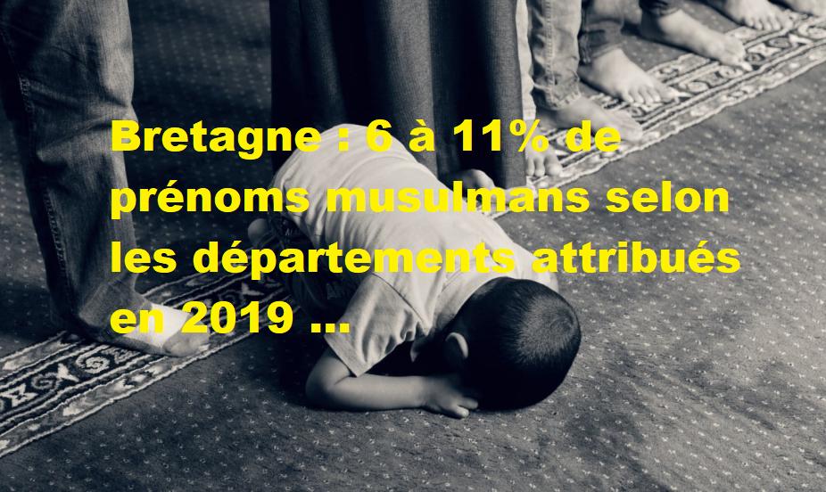 """Bretagne : """" le Grand remplacement en marche... ! """" 6 à 11% de prénoms musulmans selon les départements attribués en 2019"""