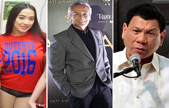 Mocha Uson, Jim Paredes and Rodrigo Duterte