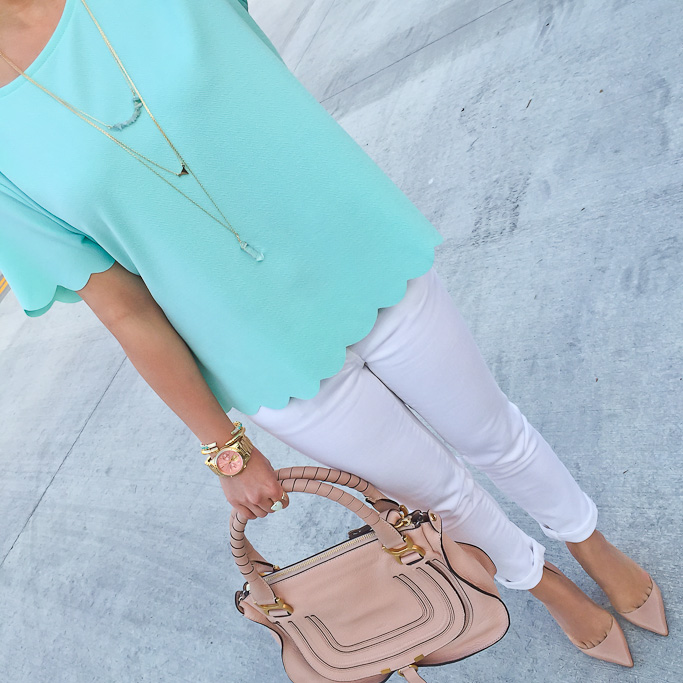 scalloped top chloe marcie small satchel nude louboutins