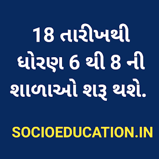 Gujarat schools to reopen for classes 6 to 8 students from 18 February