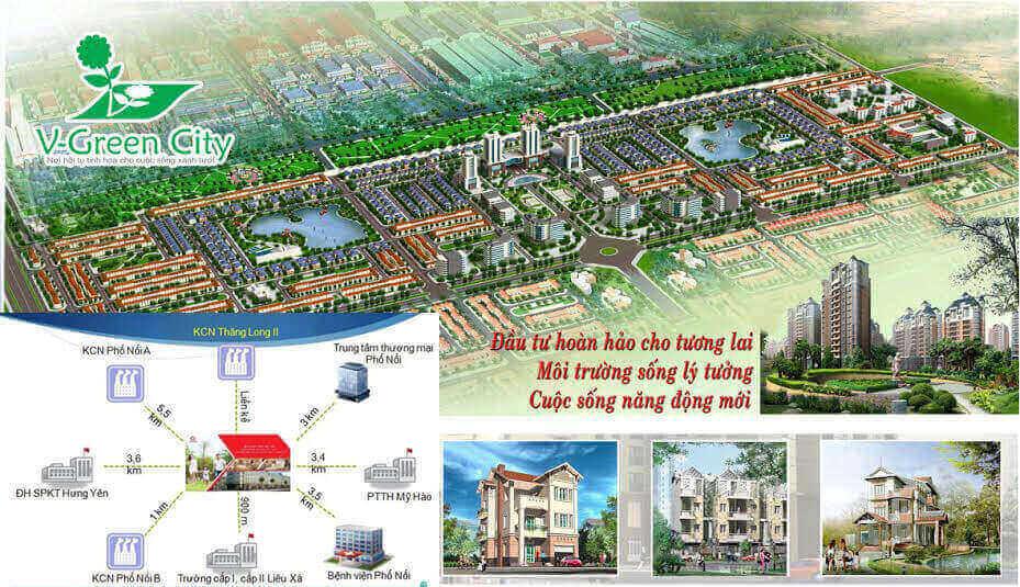 Dự án đất nền phố Nối Hưng Yên V-Green City - Chỉ từ 6 Triệu/m2 - ducanhland