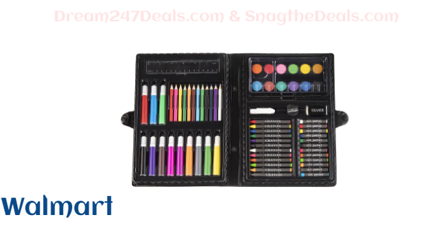 Darice Art Set in Portable Plastic Case, 68 Pieces ONLY $5.50