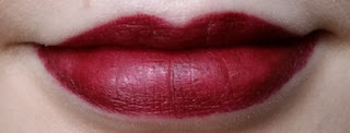 MAC Lipstick in Sin lip swatch