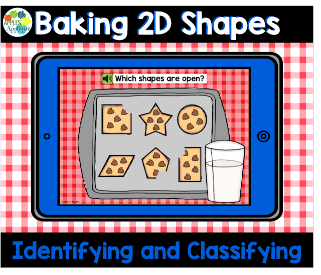 Baking 2D Shapes: Digital Task Cards | Apples to Applique