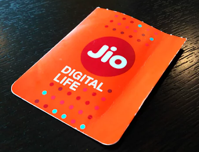 Sim card of Reliance Jio