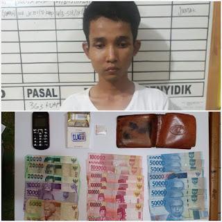 Hasil Patroli, Kepolisian Ringkus Pemuda Pengedar Shabu di Kecamatan Bayung Lincir