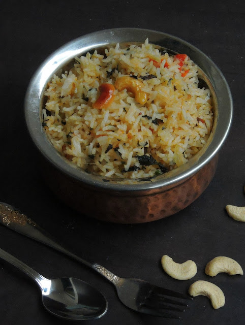 Vegan Mint Rice, Pudhina Annam