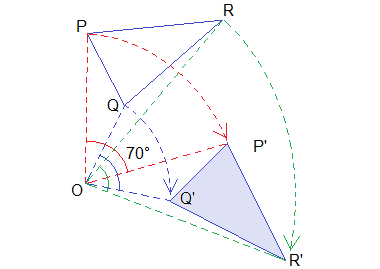 Example 2: Solution: Image of ΔPQR.
