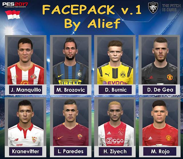 Facepack v.1 PES 2017 by