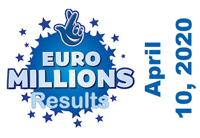 EuroMillions Results for Friday, April 10, 2020