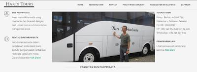 Bus Pariwisata Makassar 081-342-654-649 Hardi Tours