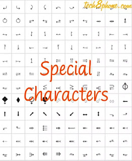 Special Characters