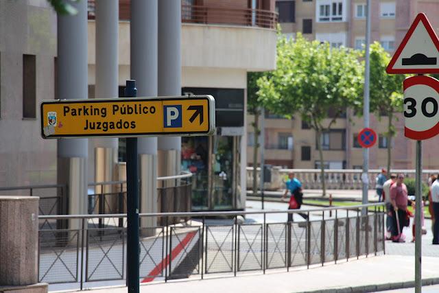 Señal del aparcamiento de la campa del pito