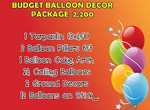 Budget Balloon Decor Package 2,200