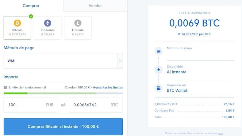 registro coinbase comprar bitcoin ethereum