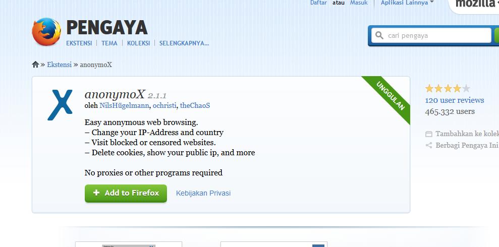 Anonymox proxy ip