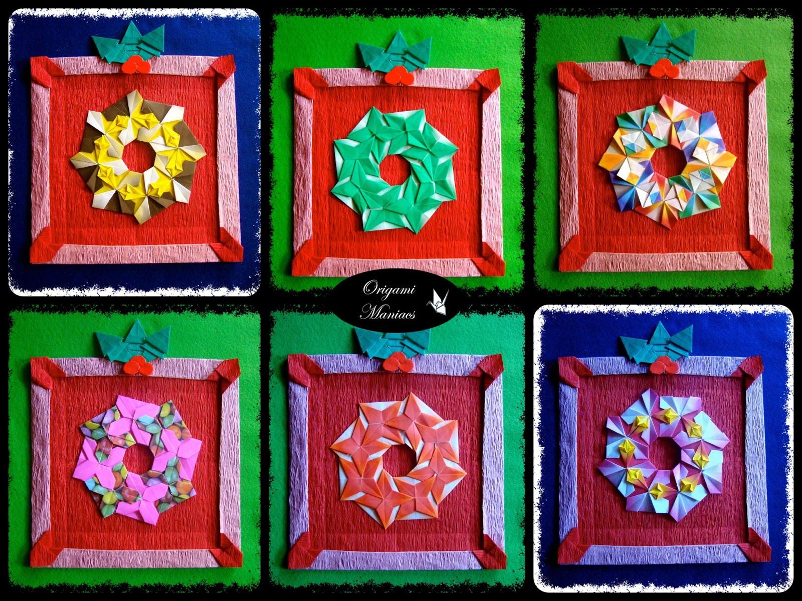 Origami maniacs mandala frames marcos para mandalas - Como hacer targetas de navidad ...