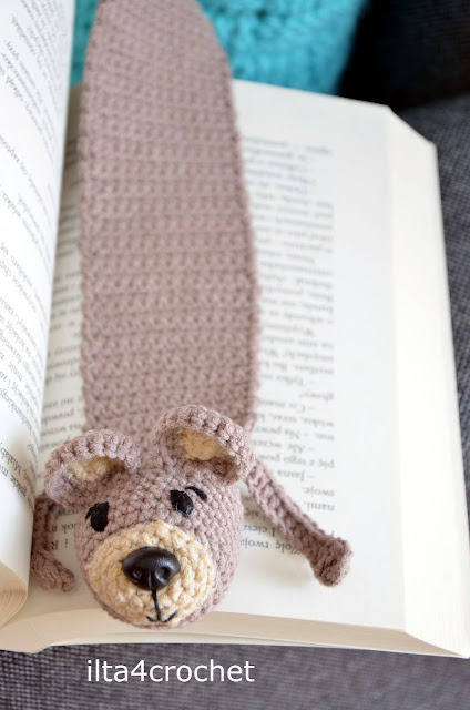 crochet teddybear bookmark tutorial