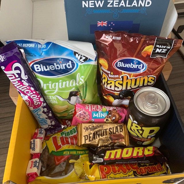 Snack Surprise New Zealand box contents
