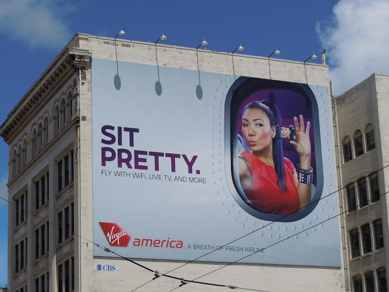 Virgin America sit pretty billboard