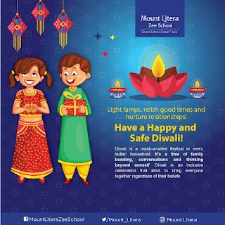 माउंट लिटेरा जी स्कूल परिवार की तरफ से दीपावली की हार्दिक शुभकामनाएं | #NayaSaberaNetwork