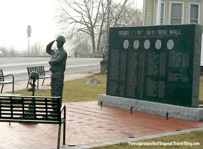 The Perry County Memorial Wall in Marysville Pennsylvania