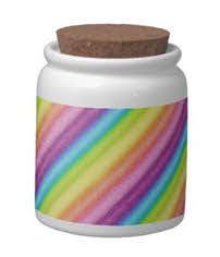 """""""Rainbow Ices"""" Candy Jar digital art rainbow stripes"""