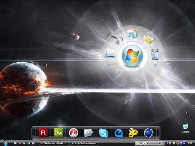 Tải RocketDock 1.3.5 | Thay Đổi Phong Cách Thanh Taskbar Windows