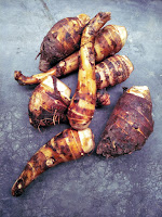 Taro root is a great source of dietary fiber and other nutrients. Taro root is a common kitchen ingredient in Assamese cuisine but you cannot consume it raw. It must be cooked properly in order to remove the irritating oxalate.