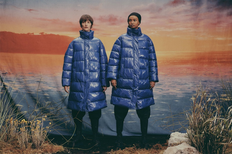 Sara & Ugbad Layer Up in Zara's Upcycled Puffer Jackets