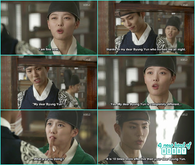 crown princ gve medicine of cold to eunch hong ra on  - Love in The Moonlight - Episode 5 Review