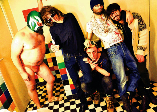 Sexy Sushi backstage electro clash punk musicien franck chevalier paris