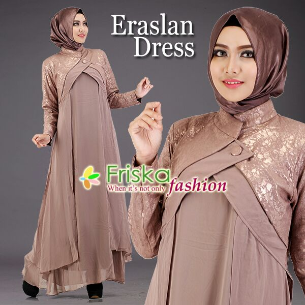 Contoh Model Baju Hijab Ke Pesta Eraslan Dress By Friska Zona