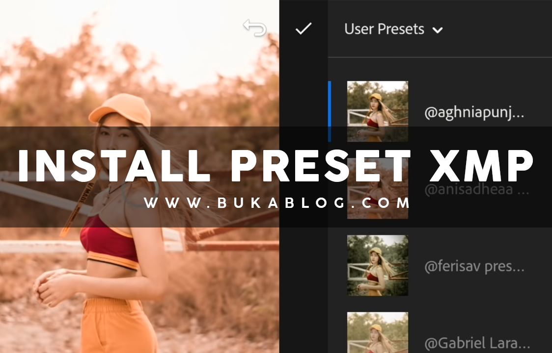Cara Menambahkan/Install Preset XMP ke Lightroom CC Mobile