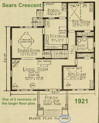 Sears Crescent large floor plan No 3084- the first one offered