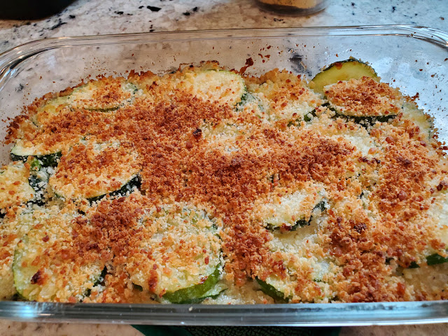 A quick and easy summer squash casserole.