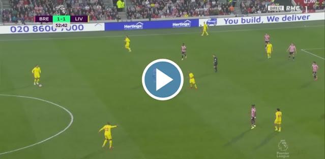 Brentford vs Liverpool Live Score