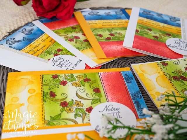 ensemble de cartes avec le jeu Abondance de beauté Stampin' Up!