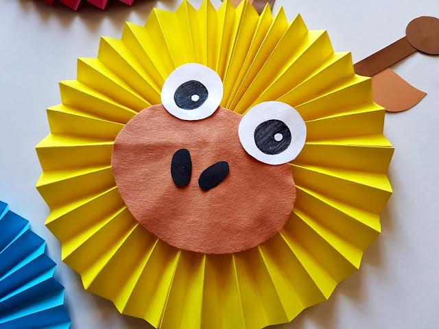zwierzęta z papieru - owoce z papieru - zwierzęta z papierowych rozet - owoce z papierowych rozet - jak zrobić rozetę z papieru - prace plastyczne dla dzieci - prace plastyczne przedszkole - papierowe zoo- kids crafts - kids activities - diy - do it yourself - dekoracje dziecięcego pokoju diy