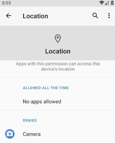 تم رفض موقع تطبيقات Android على الإنترنت 1