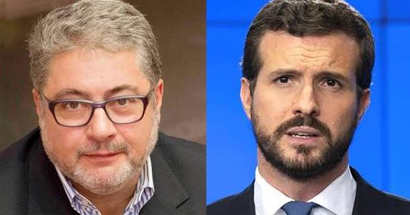 """Joaquín Brotons a Pablo Casado: """"Cállate de una vez y suma en lugar de restar""""."""