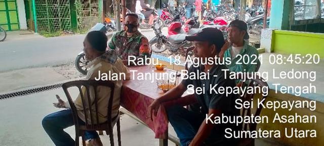 Eratkan Jalinan Persaudaraan, Personel Jajaran Kodim 0208/Asahan Laksanakan Komsos Dengan Warga Binaan