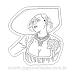 Lady Dimitrescu Resident Evil Village RE8 Edit Sticker para Colorir