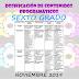 DOSIFICACIÓN DE CONTENIDOS SEXTO GRADO, NOVIEMBRE 2019.
