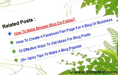 how to add related post widget